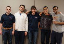 Burke Snowden, Sam Amer, Greg Herman, Will Zhu, Arjun Dhir, photo by Sylvia Shi