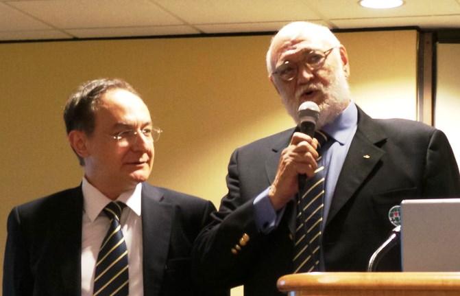 Ata Aydin WBF Youth Committee Chairman & Gianarrigo Rona WBF President